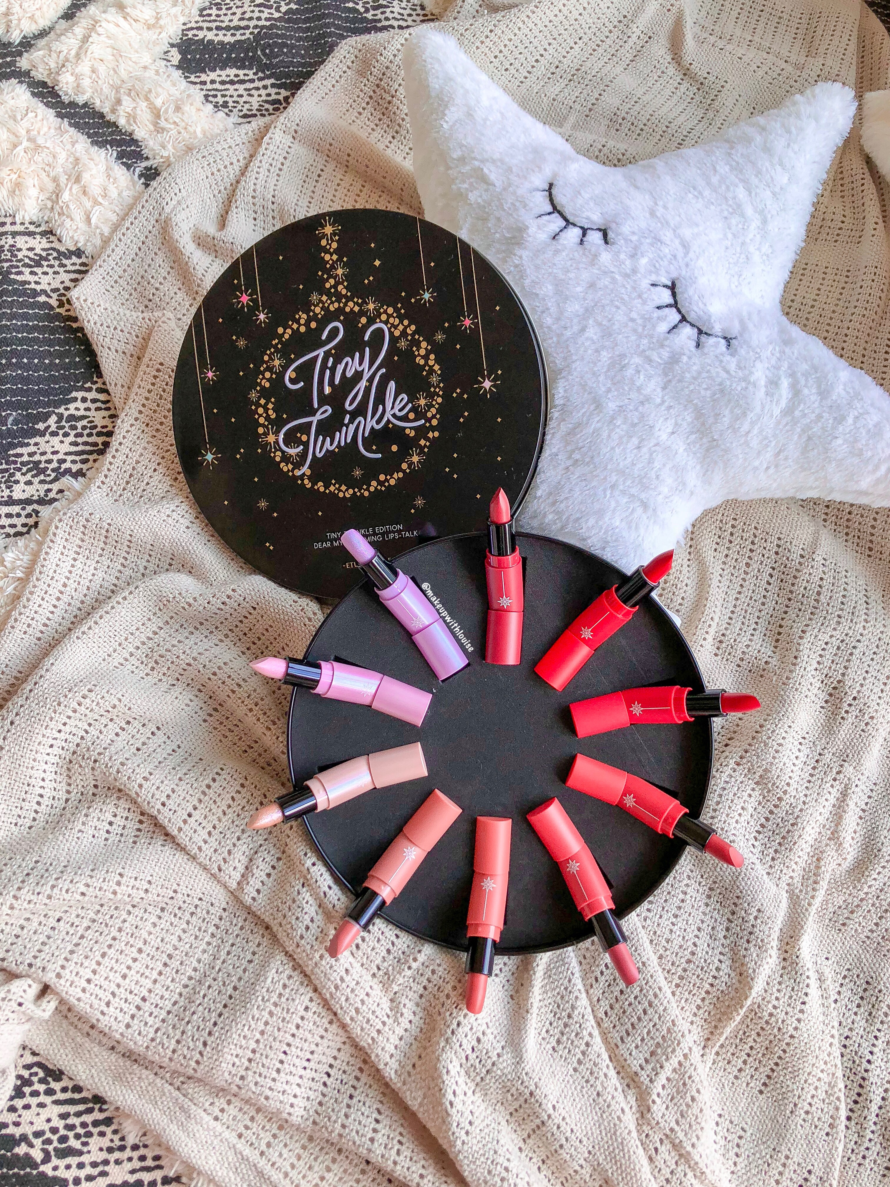NEW Etude House Tiny Twinkle – Dear My Blooming Lips (All 10 shades) – YouTube Swatch :)